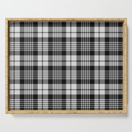 Black and White Plaid Serving Tray