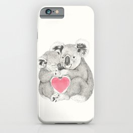 Koalas love hugs iPhone Case