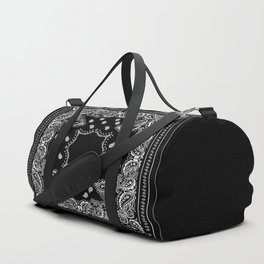 Bandana Black & White Duffle Bag