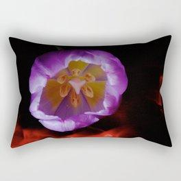 Light Painting Purple Tulip Rectangular Pillow