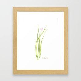 chives watercolor Framed Art Print