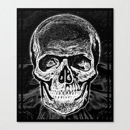 Skull (Black and White) Canvas Print