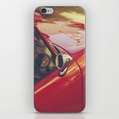 Fine art print, red supercar details, high quality photo, deep of field, macro, triumph spitfire iPhone & iPod Skin
