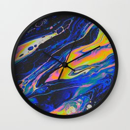SLOW ICE + OLD MOON Wall Clock