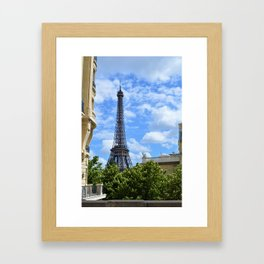 The view of the Eiffel Tower Framed Art Print