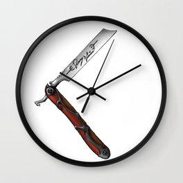 Barbers Vintage Straight Edge Razor Wall Clock