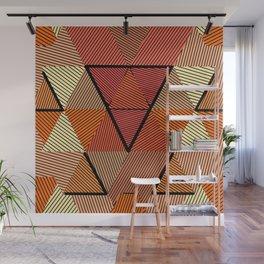Terracotta geometric Wall Mural