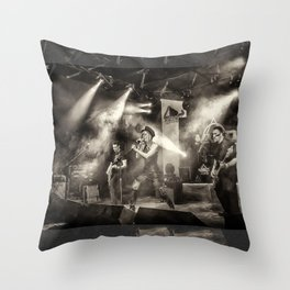 Anna and The Barbies Music Band Gig  Throw Pillow