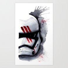 Finn Stormtrooper Traitor StarWARS The Force Awakens The Empire Art Print