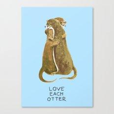 Love each otter Canvas Print