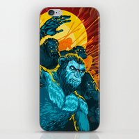 planet of the apes iPhone & iPod Skins featuring Dawn Of The Planet Of The Apes by KD Artwork