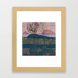 Egon Schiele - Setting Sun Framed Art Print