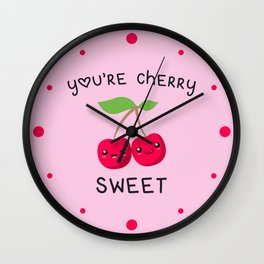 Your Cherry Sweet, Quote Wall Clock