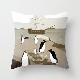 Guests arrive 13 Throw Pillow