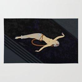 "Art Deco Design ""The Dancer"" by Erté Rug"