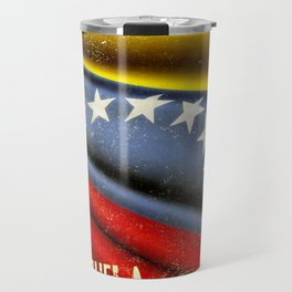 Grunge sticker of Venezuela flag Travel Mug