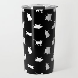 White Kittens Travel Mug