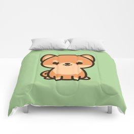 Cute shiba inu Comforters