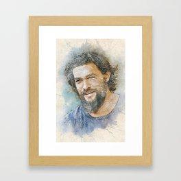 Jason Momoa Portrait Framed Art Print