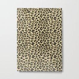 Leopard Print Brown Metal Print