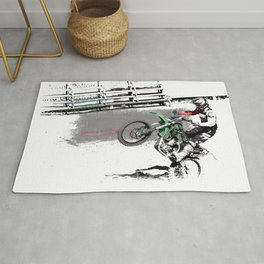 Making a Stand - Freestyle Motocross Rider Rug