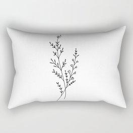 Tiny Wildflowers Rectangular Pillow