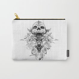 Wolf And Skull Carry-All Pouch