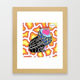 WHAH? Framed Art Print