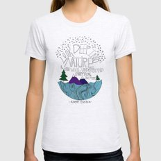 Nature II Ash Grey SMALL Womens Fitted Tee