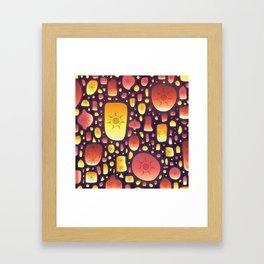 Tangled Lanterns Pattern Framed Art Print