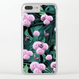 Tropical Peonies Dream #1 #floral #foliage #decor #art #society6 Clear iPhone Case