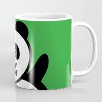 pocket Mugs featuring Pocket panda by Jaxxx