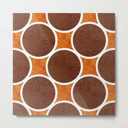 Chocolate Orange Metal Print