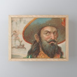 Vintage Henry Morgan the Pirate Illustration (1888) Framed Mini Art Print