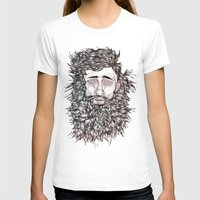 beard T-shirts featuring BEARD by Leah Cooper