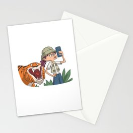 Photo with Tiger for hunters Stationery Cards
