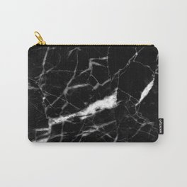 modern chic minimalist abstract black marble Carry-All Pouch