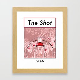 The Shot Series - Damian Lillard Framed Art Print