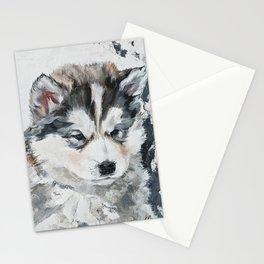 Little Puppy husky Stationery Cards