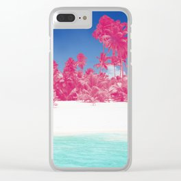 Pink Palms Clear iPhone Case