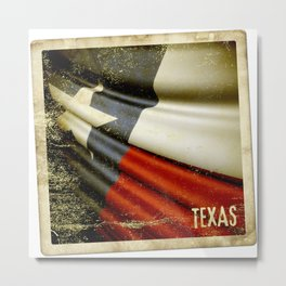 Grunge sticker of Texas (USA) flag Metal Print