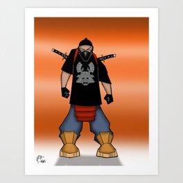 Street Samurai Series - Ninja  Art Print