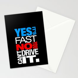 Yes it's fast No you can't drive it v1 HQvector Stationery Cards