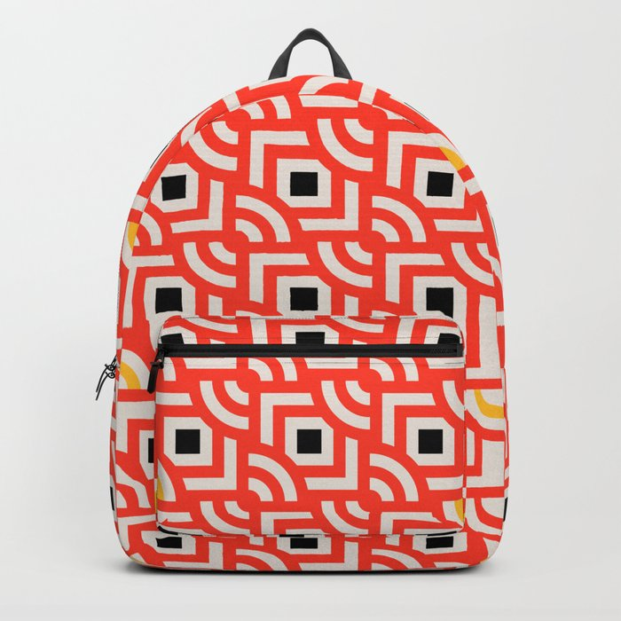 Round Pegs Square Pegs Red-Orange Backpack