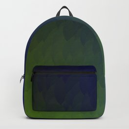 Ombre purple blue green peacock flames Backpack