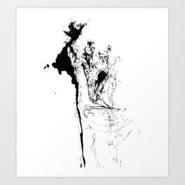 Sometimes I feel like a tree just sitting here absorbing the people that come and go. Art Print