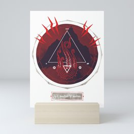 Mountain of Madness (red) Mini Art Print