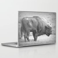 bison Laptop & iPad Skins featuring  Bison by Peaky40