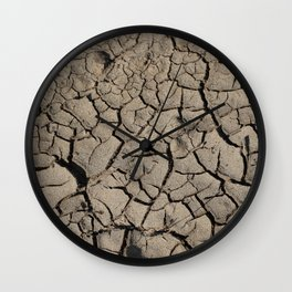 Cracked earth Wall Clock