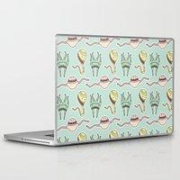 sticker Laptop & iPad Skins featuring sticker monster pattern 8 by freshinkstain